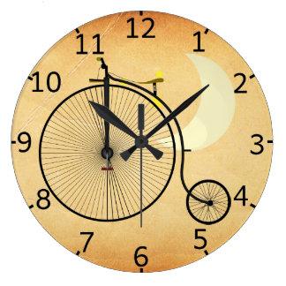 Vintage Bicycle Large Clock
