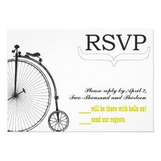 Vintage Bicycle Love RSVP Invite