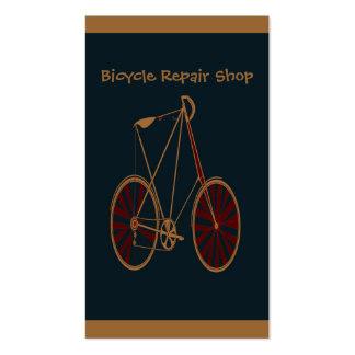 Vintage Bicycle Old School Blue Red Bike Business Cards
