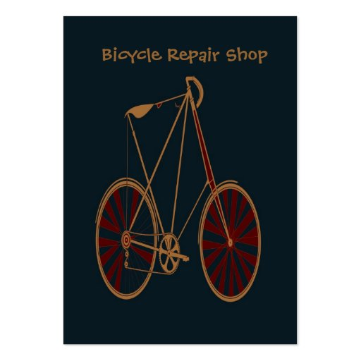 Vintage Bicycle Old School Blue Red Bike Business Card Template