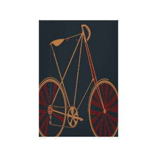 Vintage Bicycle Old School Blue Red Bike Canvas Print