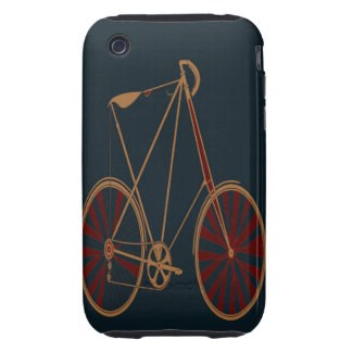 Vintage Bicycle Old School Blue Red Bike iPhone 3 Tough Cover