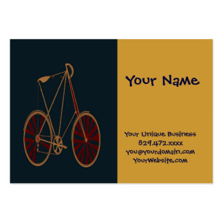 Vintage Bicycle Old School Blue Red Bike Large Business Cards (Pack Of 100)