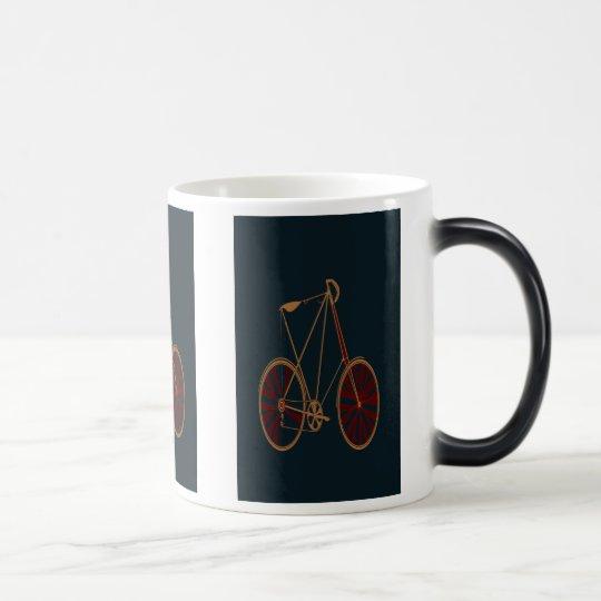 Vintage Bicycle Old School Blue Red Bike Magic Mug