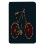Vintage Bicycle Old School Blue Red Bike Flexible Magnets