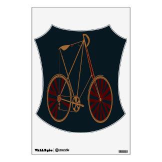 Vintage Bicycle Old School Blue Red Bike Room Stickers