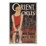 Vintage Bicycle Orient Cycles Ad Art Poster