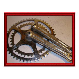 Vintage bicycle parts 16 postcard