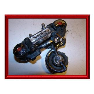 Vintage bicycle parts 3 postcard