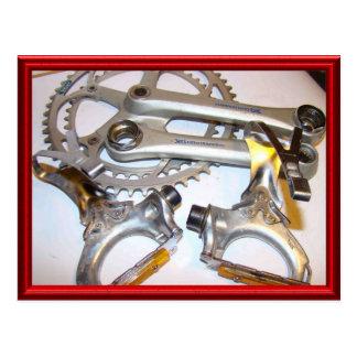 Vintage bicycle parts 7 postcard