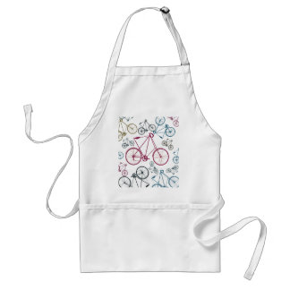 Vintage Bicycle Pattern Gifts for Cyclists Adult Apron