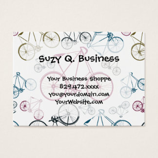 Vintage Bicycle Pattern Gifts for Cyclists Business Card