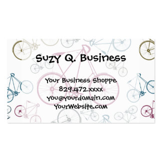 Vintage Bicycle Pattern Gifts for Cyclists Business Card Template