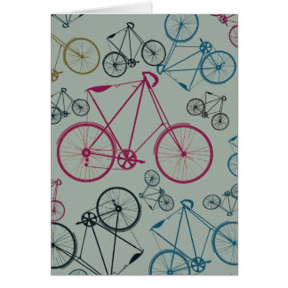 Vintage Bicycle Pattern Gifts for Cyclists Greeting Card