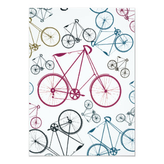 Vintage Bicycle Pattern Gifts for Cyclists Card