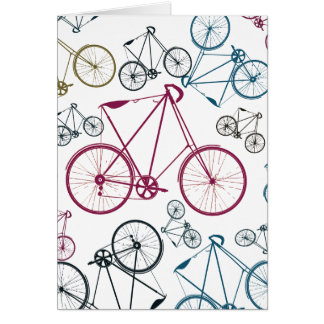 Vintage Bicycle Pattern Gifts for Cyclists Cards