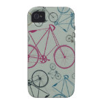 Vintage Bicycle Pattern Gifts for Cyclists iPhone 4 Cases