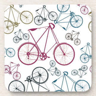 Vintage Bicycle Pattern Gifts for Cyclists Coaster