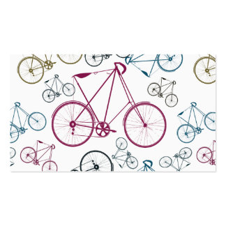 Vintage Bicycle Pattern Gifts for Cyclists Double-Sided Standard Business Cards (Pack Of 100)