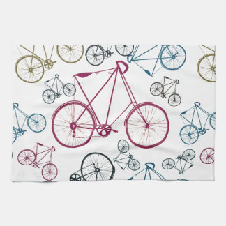 Vintage Bicycle Pattern Gifts for Cyclists Hand Towel