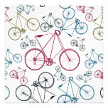 Vintage Bicycle Pattern Gifts for Cyclists Custom Announcement