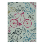 Vintage Bicycle Pattern Gifts for Cyclists Invites