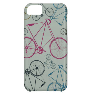 Vintage Bicycle Pattern Gifts for Cyclists iPhone 5C Cases