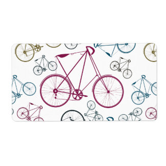 Vintage Bicycle Pattern Gifts for Cyclists Label