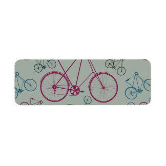 Vintage Bicycle Pattern Gifts for Cyclists Return Address Label