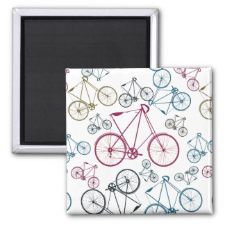 Vintage Bicycle Pattern Gifts for Cyclists Magnet