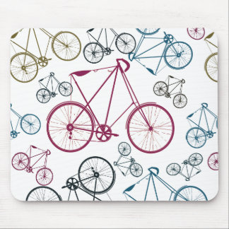 Vintage Bicycle Pattern Gifts for Cyclists Mouse Pad