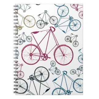 Vintage Bicycle Pattern Gifts for Cyclists Note Book