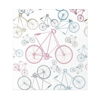 Vintage Bicycle Pattern Gifts for Cyclists Notepad