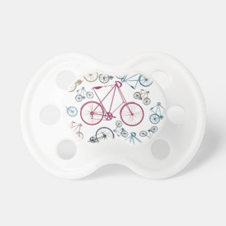 Vintage Bicycle Pattern Gifts for Cyclists Pacifier