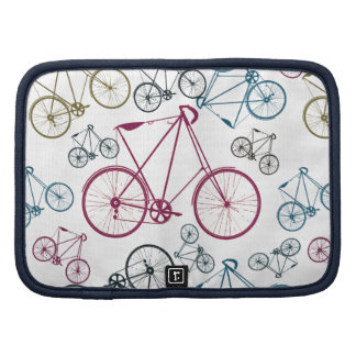Vintage Bicycle Pattern Gifts for Cyclists Organizer