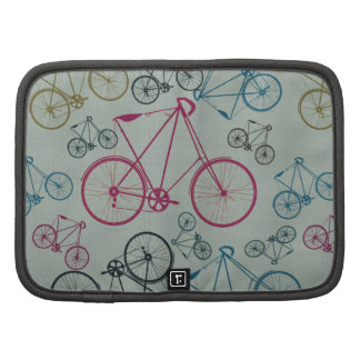 Vintage Bicycle Pattern Gifts for Cyclists Folio Planner