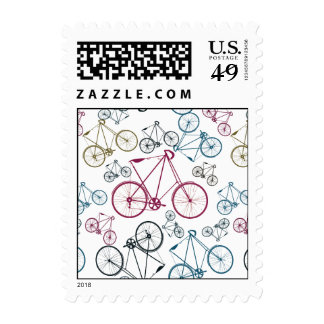 Vintage Bicycle Pattern Gifts for Cyclists Postage