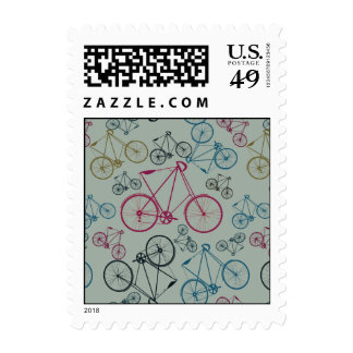 Vintage Bicycle Pattern Gifts for Cyclists Postage Stamp
