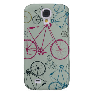 Vintage Bicycle Pattern Gifts for Cyclists Samsung Galaxy S4 Case