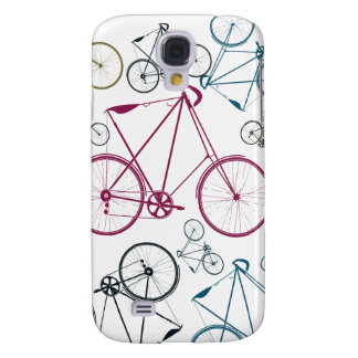 Vintage Bicycle Pattern Gifts for Cyclists Samsung Galaxy S4 Cover