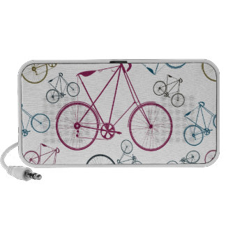 Vintage Bicycle Pattern Gifts for Cyclists PC Speakers