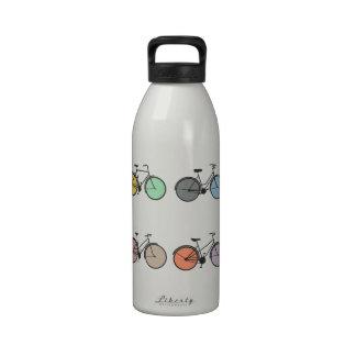Vintage Bicycle Pattern Reusable Water Bottles
