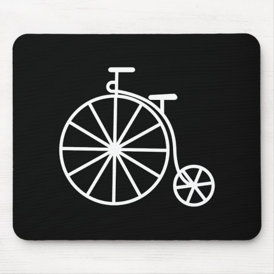 Vintage Bicycle Pictogram Mousepad