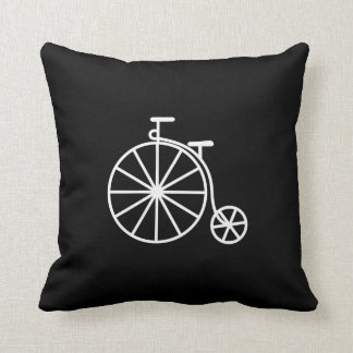 Vintage Bicycle Pictogram Throw Pillow