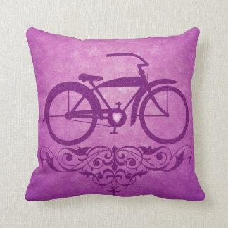 Vintage Bicycle Pink Pillow