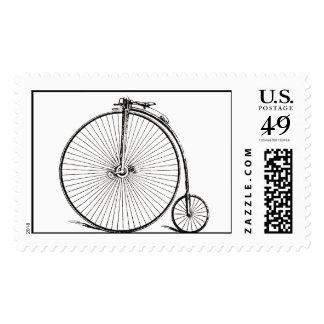 Vintage Bicycle Postage Stamp