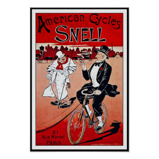 Vintage Bicycle Poster:  American Cycles Snell