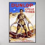 Vintage Bicycle Poster - Dunlop Cycle Tyres