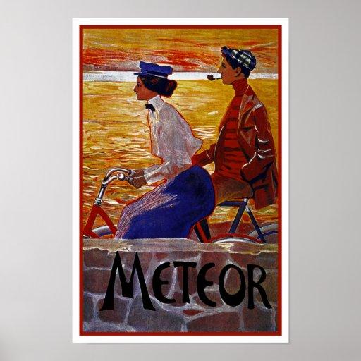 Vintage Bicycle Poster: Meteor Cycles