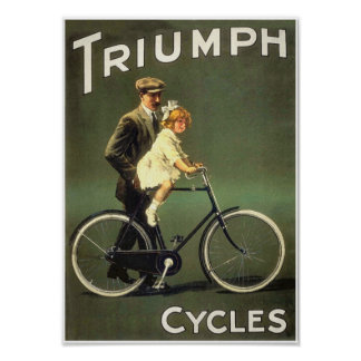 Vintage Bicycle Poster:  Triumph Cycles Poster